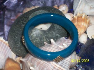 Turquiose Moroccan bangle bracelet