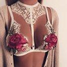 fashion Women lace Floral Bralette Bralet Bra Bustier Crop Top Unpadded Bra