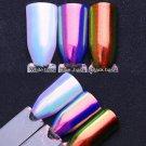 Unicorn Chrome Powder Nail Art Chrome Pigment Mermaid Powder DIY 0.2G/BOX