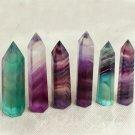 50-70MM Natural Fluorite Quartz Crystal Wand Point Healing Stone 50g FT