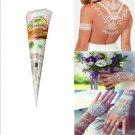 Natural Herbal Temporary Tattoo Kit White Henna Cones Body Art Paint Mehandi Ink