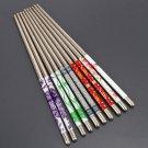5 Pairs Fashion Stainless Steel Chopsticks Chop Sticks Gift Set Assorted Home