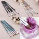5pcs Fashion UV Gel Nail Art Design Tips Dotting Painting DIY Brush Pen Tool set