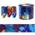 Fashion Gradient Starry Sky Nail Foil Blue Holographic Paper Nail Art Sticker 1M