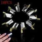10X Lots Reusable UV Gel Acrylic French Tips Nail Art Extension Guide Form Tool