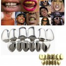 1 Set Punk Gold Plated Hip Hop Teeth Grillz Top & Bottom Grill Teeth Grills FT