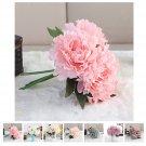 Artificial Fake Peony Silk Flower Bridal Wedding Hydrangea Home Garden Decor FT