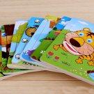 9Pcs/Set DIY Cute Cartoon Animals Wooden Puzzle Jigsaw Kids Development Toy Gift