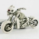 Charm Moto Bike Purse Bag Punk Rubber Skulls KeyChain Keyring Car Key Chain FT