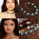 Vintage Chic Boho Ethnic Collar Choker Necklace Statement Bohemian Turquoise FT