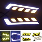1Pair Waterproof 12V LED COB Car Auto DRL Driving Daytime Running Lamp Fog Light