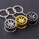 Fashion Creative Wheel Hub Rim Model Man's Keychain Car Key Chain Cool Gift New