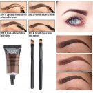 Waterproof Brown Tint Eyebrow Henna With Mascara Eyebrows Paint Brush 1SET FT