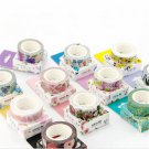 1 Roll DIY Floral Washi Sticker Decor Paper Masking Adhesive Tape Crafts Gift FT