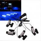 4PCS 3LED Car Charge Interior Accessories Floor Decorative Atmosphere Lamp Light