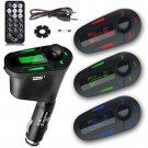 For Phone Car Kit MP3 Player AUX Multifunction FM Transmitter With Charger 3.5mm