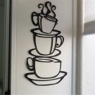 Fun DIY Removable Home Kitchen Decor Coffee House Cup Decals Vinyl Wall Sticker