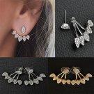 NEW Fashion Elegant Charm Women Crystal Gold Silver Earrings Ear Stud Jewelry FT