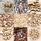 100PCS Lot Rustic Wooden Wood Love Heart Wedding Table Scatter Decoration Crafts