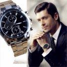 Luxury Fashion Men's Date Army Sport Stainless Steel Quartz Analog Wrist Watch