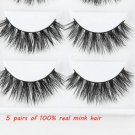 5Pairs Natural 100% Mink Thick False Fake Eyelashes Eye Lashes Makeup Extension