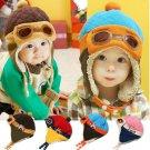 Soft Winter Baby Earflap Toddler Girl Boy Kids Pilot Aviator Cap Warm Beanie Hat