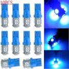 10PCS lots Blue T10 194 168 2825 5050 5SMD LED Super Bright Car Lights Lamp Bulb