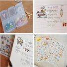 Fun Pig Transparent Calendar Diary Book Sticker Scrapbook Decoration 6 Sheet FT