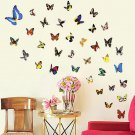 80PCS Romantic DIY Colorful Butterfly Wall Stickers Decal Removable Decor Home