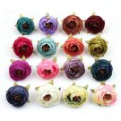 10Pcs/bag Camellia Flower Heads for Wedding Hair Clip Corsage Decor Crafts DIY