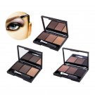 With Brush Mirror Eyebrow Powder Eye Brow Palette Cosmetic Makeup Shading Kit FT