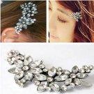 Bridal Wedding Flower Headband Comb Pin Crystal Chic Rhinestone Hair Clip