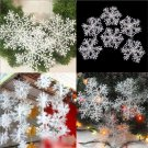 30PCS DIY Christmas White Snowflake Charms for Festival Home Ornaments Decor FT2