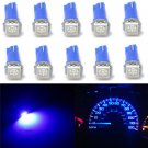 10PCS Blue T5 70 73 74 Wedge Ultra 1-SMD Car LED Dashboard Lights Gauge Cluster