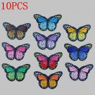 10PCS DIY Embroidery Butterfly Sew On Patch Badge Embroidered Fabric Applique FT