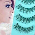 5Pairs Hot Soft Eyelashes Makeup Messy Cross False Eye Lashes Black Nautral FT90