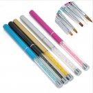 1PC Pro GEL & Acrylic Nail Art Tips Design Dotting Painting Pen Polish Brush Set