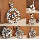 Fashion Pentagram Star Celtic Knot Cross Metal Silver Pendant Choker Necklace FT