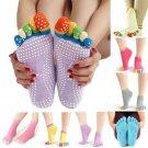 Toe Colorful Women Cotton Yoga Gym Non Slip Massage Socks Full Grip Socks Heel