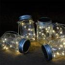 1pcs DIY LED Fairy Light Solar Mason Jar Lid Lights Color Changing Garden Decor