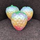 Rainbow Simulation Strawberry Squishy Jumbo Scented Slow Rising Fun Toy Gift FT