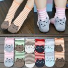 1 Pair Soft Charm Womens Sports Casual Cute Cat Striped Ankle High Cotton Socks