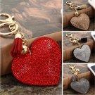 Fashion Heart Crystal Rhinestone Handbag Pendant Keychain Bag Keyring Key Chain