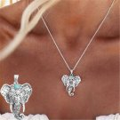 2016 Newest Womens Fashion Silver Elephant Pendant Chain Choker Charm Necklace