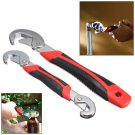 NEW 2Pcs Universal Functional Quick Adjustable Wrench Spanner Tools