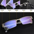 Mens High quality Half frame Style Blue Film Anti-radiation Reading glasses FT