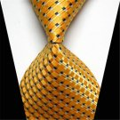 Business Classic Gold Striped Tie WOVEN JACQUARD Men's Suits Ties Necktie Gift