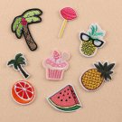 8PCS DIY Embroidered Sew Iron on Patch Badge Fruit Pineapple Bag Fabric Applique