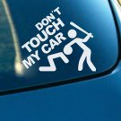 """Don't Touch My Car"" Auto SUV Window Rear Trunk Fenders Reflective Decal Sticker"
