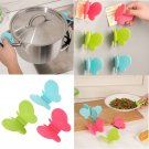2PCS Adorable Butterfly-Shaped Silicone Anti-Scald Device Kitchen Tool Gadget FT